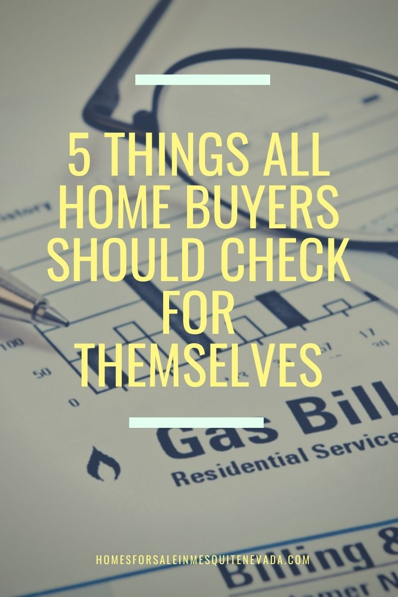 Home buyers should check
